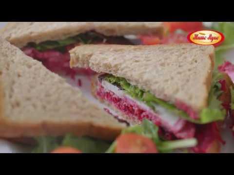 Сендвич со цвекло и моцарела